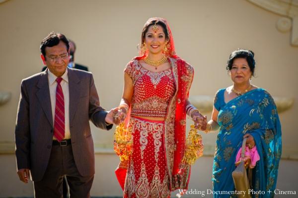 Indian-wedding-bride-enters-ceremony