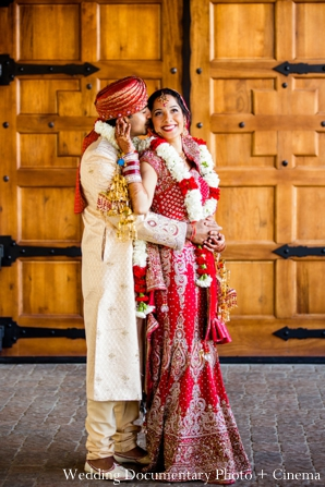 Indian-wedding-bride-groom-after-ceremony-portrait