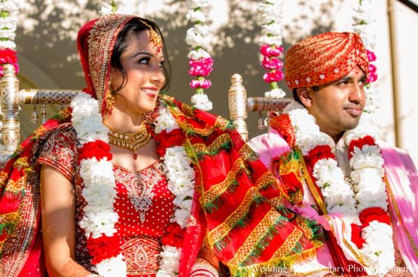 Indian-wedding-bride-groom-couple-jai-mala