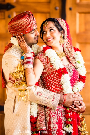 Indian-wedding-bride-groom-portrait-after-ceremony