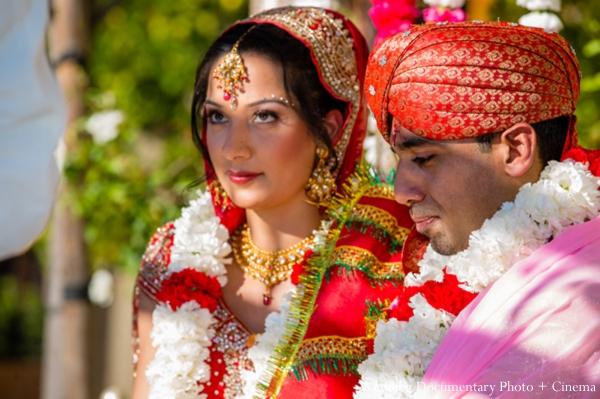 Indian-wedding-bride-groom-red-jai-mala