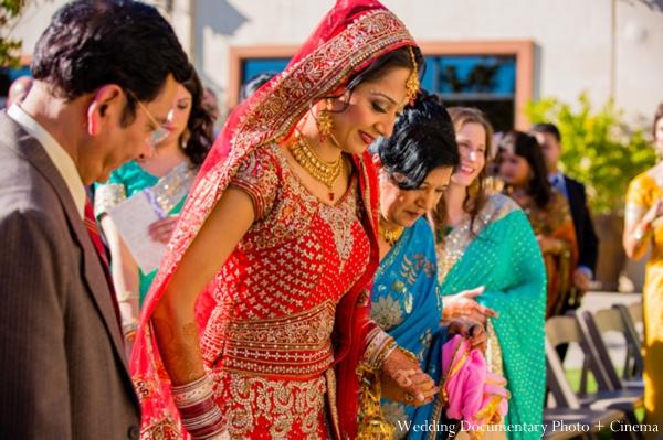 Indian-wedding-bride-lengha-red