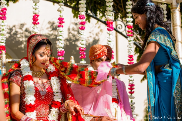 Indian-wedding-ceremony-bride-groom-mandap