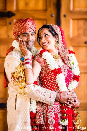 Indian-wedding-portrait-bride-groom-happy