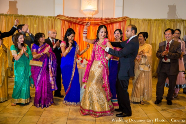 Indian-wedding-reception-dancing-bride