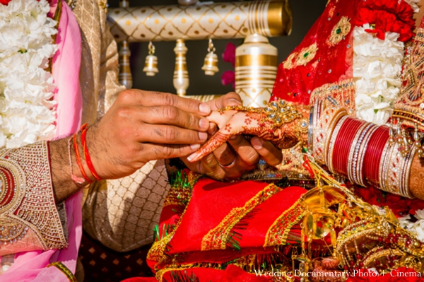 Indian Wedding Ring Exchange Ceremony