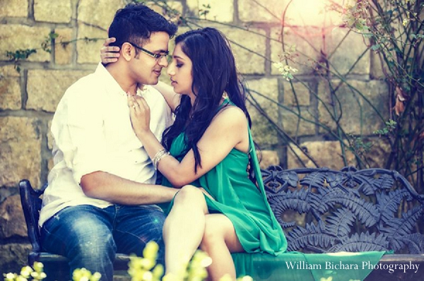 Indian wedding bride groom engagement pictures in Sweetheart Sunday Winners ~ Anokhi and Amit