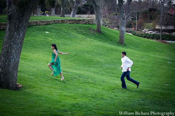 Indian wedding engagement photos bride groom in Sweetheart Sunday Winners ~ Anokhi and Amit