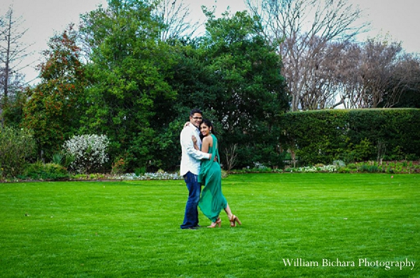 Indian wedding engagement photos outdoors in Sweetheart Sunday Winners ~ Anokhi and Amit