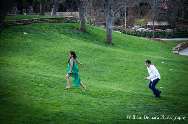 Indian wedding engagement portraits bride groom running in Sweetheart Sunday Winners ~ Anokhi and Amit