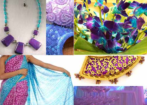 Inspiration board purple and turq
