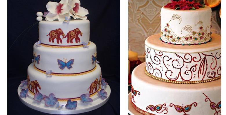 N Mehndi Cake : Indian style wedding cakes! maharani weddings