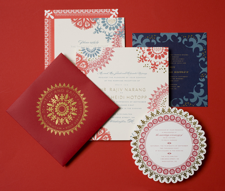 This Next Invitation Was For A Very Custom Indian Themed Wedding That Makes Me Squeal With Excitement Cheree Berry Based The Pattern Of Off
