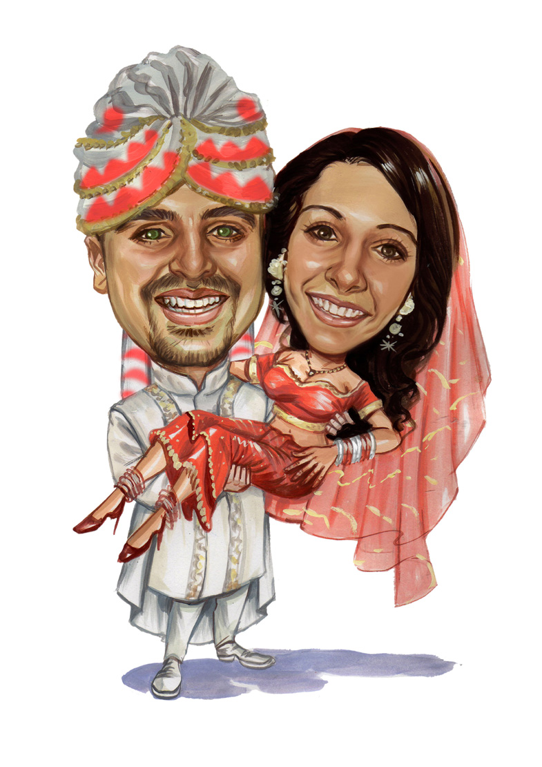 Indian wedding blog, caricature 2