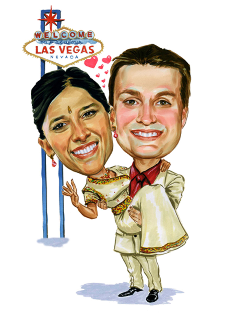 Indian wedding blog, caricature 1