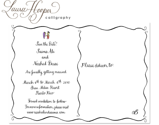 Indian wedding blog, save the date idea laura hooper 2 copy