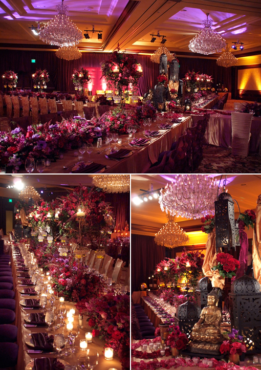 Indian wedding blog, reception decor idea copy