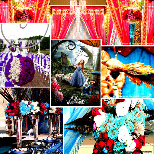 Alice in wonderland_inspiration_board_from_Partyland