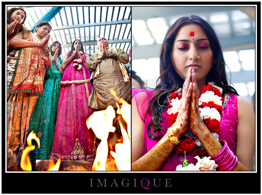 Indian wedding, indian bride, prayer