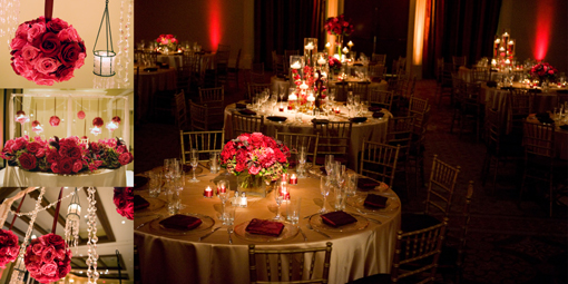 Indian wedding, Red Gold Reception