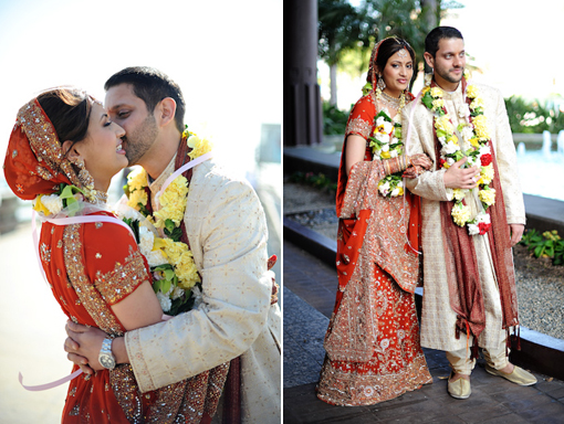 Indian wedding, bride and groom copy