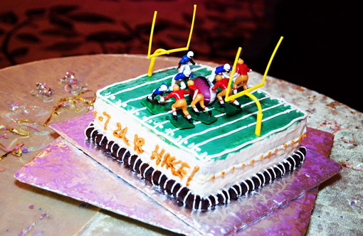 Indian wedding groom's cake football