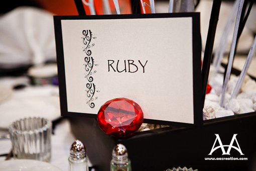 Indian wedding ideas, table numbers