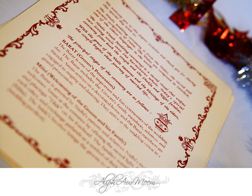 Indian wedding ceremony program, hindu
