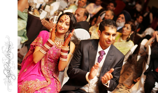 Indian bride and groom, indian wedding reception