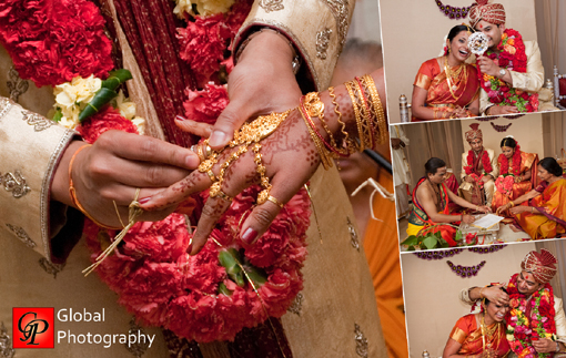 South indian wedding, indian bride and groom
