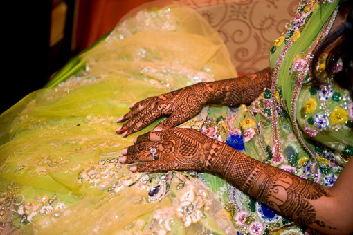 Indian wedding, mehndi 3