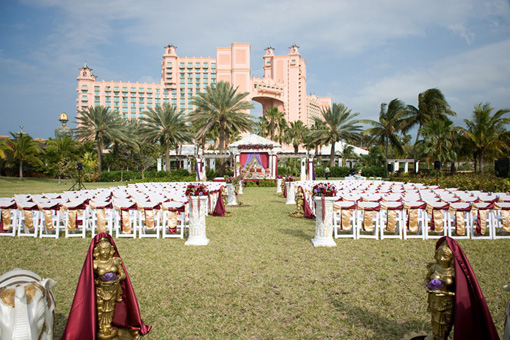 Indian wedding, outdoor ceremony, atlantis