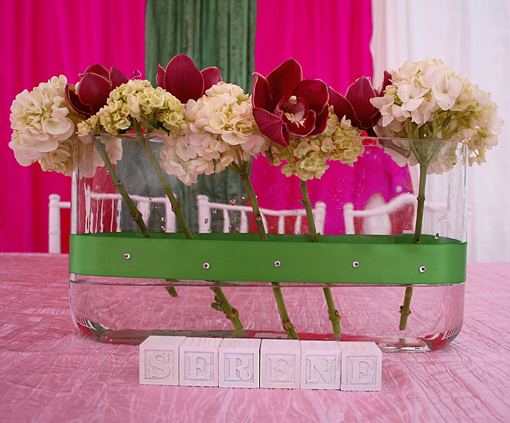 Indian wedding green and pink mehndi decor 4