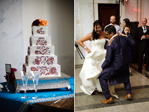 Indian wedding, reception, wedding cake copy