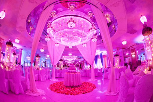 Indian wedding decor, cake table reception, modern