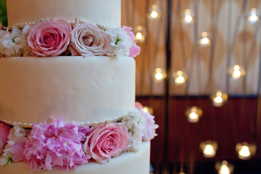 Indian wedding cake, pink and creme