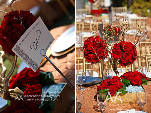 Indian wedding, blue and red decor copy