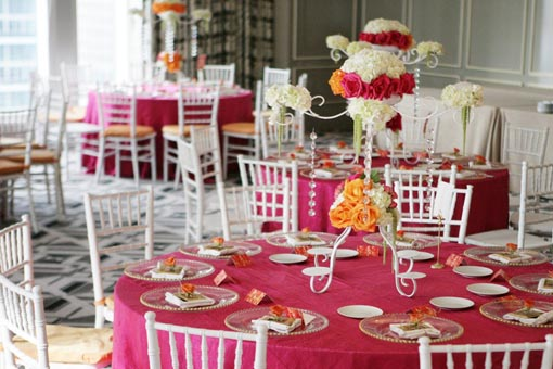 Indian wedding pink and orange 1