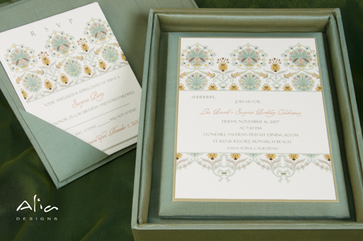 Indian wedding invitation, box 1