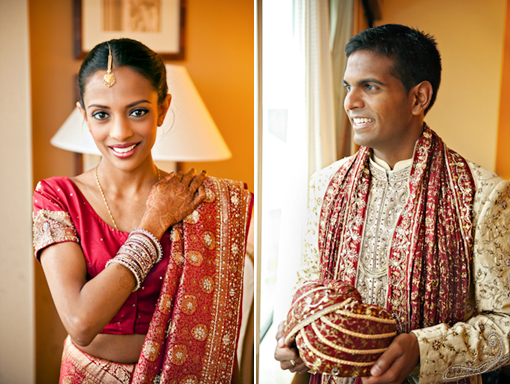 Indian wedding bride and groom copy