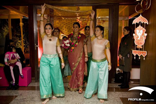 Indian wedding bride entry