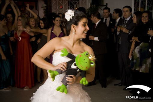 Indian wedding frog toss