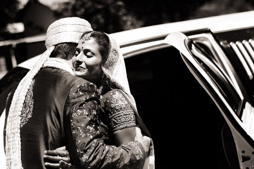 Indian wedding black and white 1