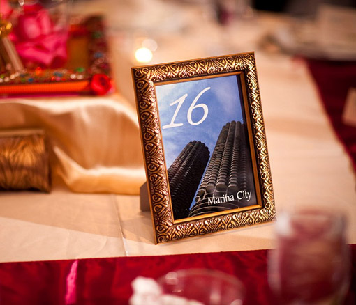 Indian wedding table numbers