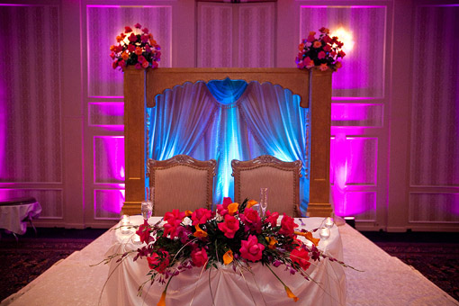 Indian wedding sweetheart table