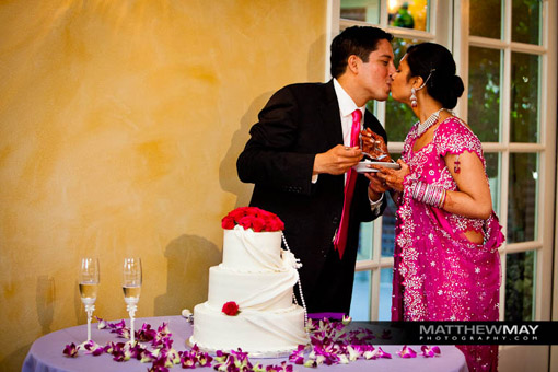 Indian wedding cake, reception