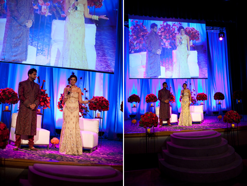 Indian wedding reception stage copy