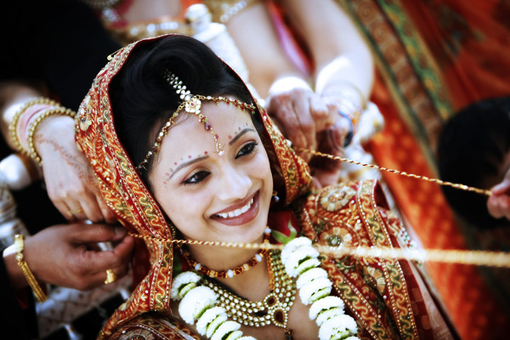 Indian wedding ceremony, indian bride