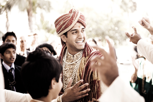 Groom at baraat, safa 1