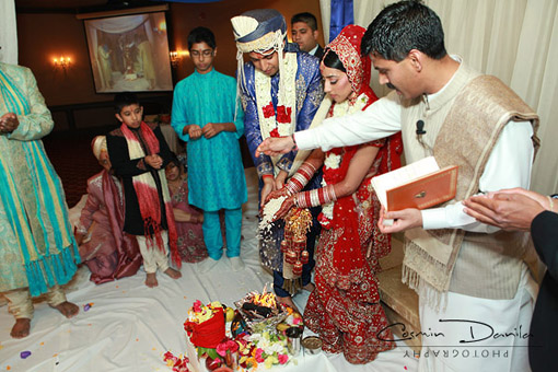 Indian wedding ceremony, 1
